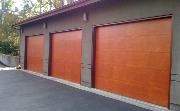 Flush Stain Grade Garage Door