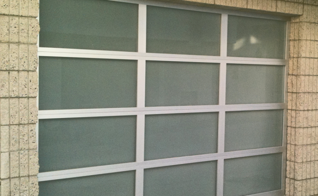 Glass garage door 8ft by 7ft