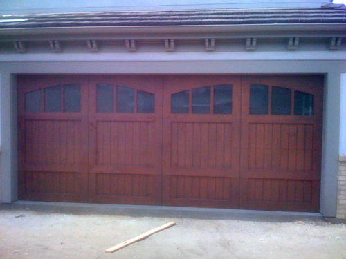 Ranch House doors custom wood series arched windows garage door