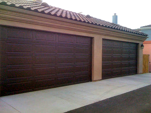 Unique raised panel 8 feet high garage door