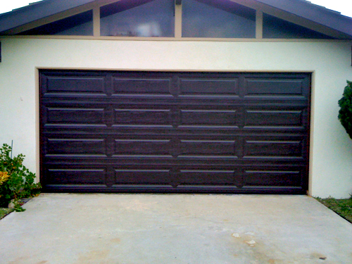 Unique raised panel Brown garage door