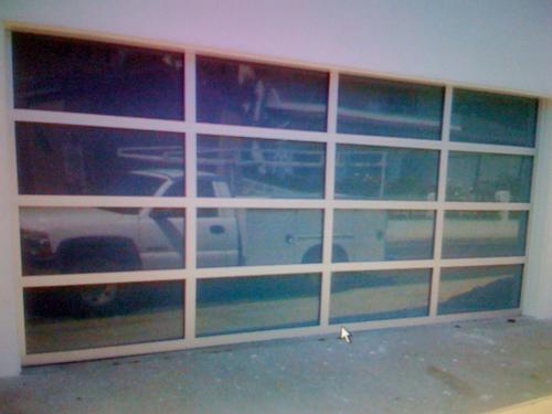 Wayne Dalton Fullview white laminated glass garage door