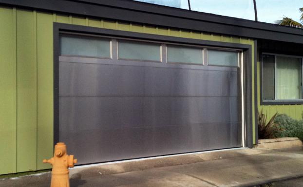stainless garage door