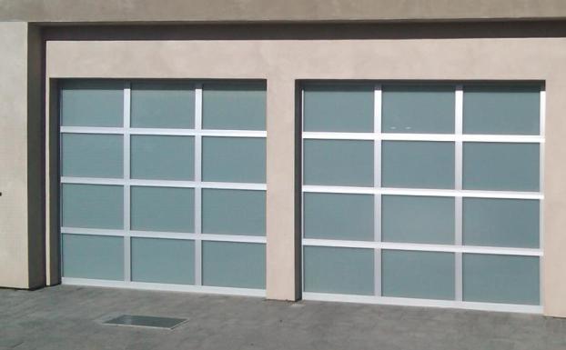 custom glass garage door