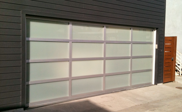 custom style glass garage door