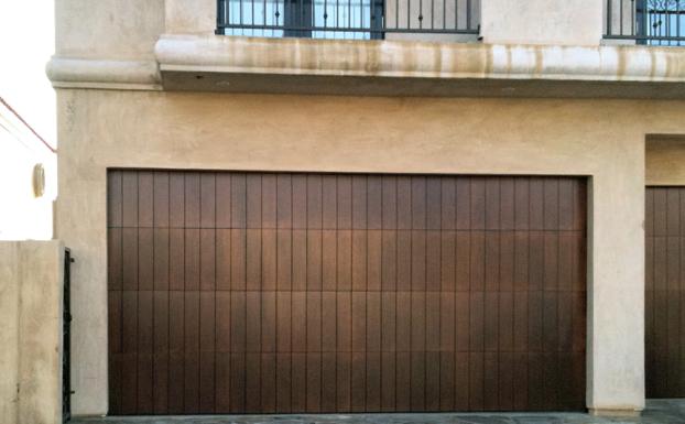 marine mahogany garage doors