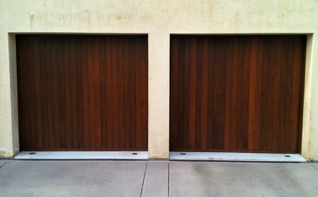 wood one piece garage door