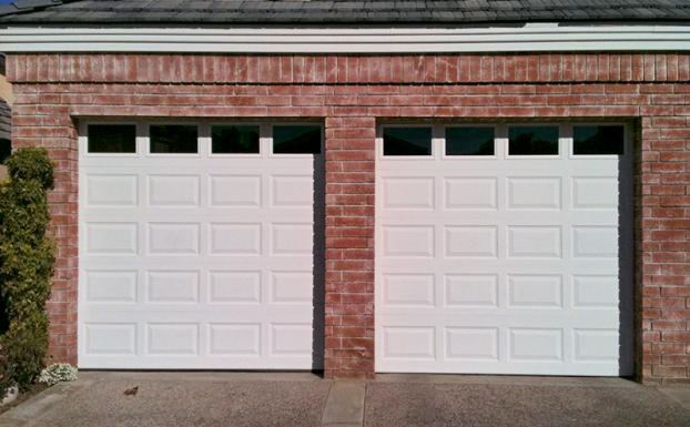Steel roll up garage doors 8 ft. high