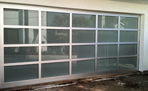 custom glass garage door