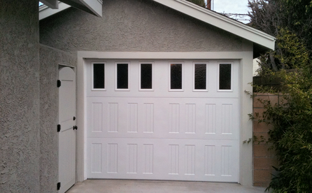 First united steel light series garage door
