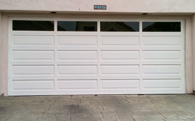 raised long panel paint grade wood garage door