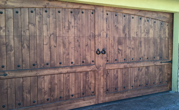 rustic garage door