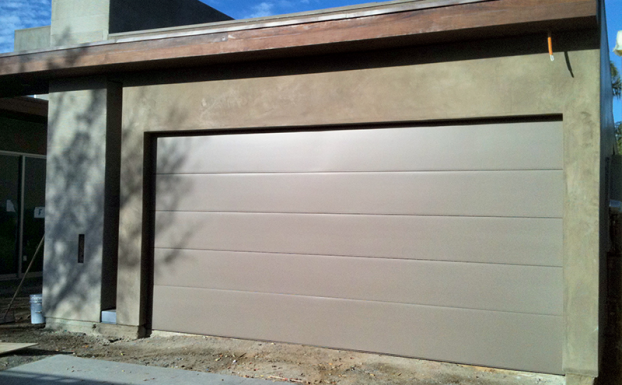 Smooth modern finish garage door all county garage doors for Garage door finishes