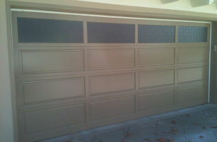 tile wood garage door