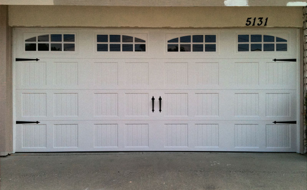 Steel Carriage House With Decorative Hardware Garage Door All