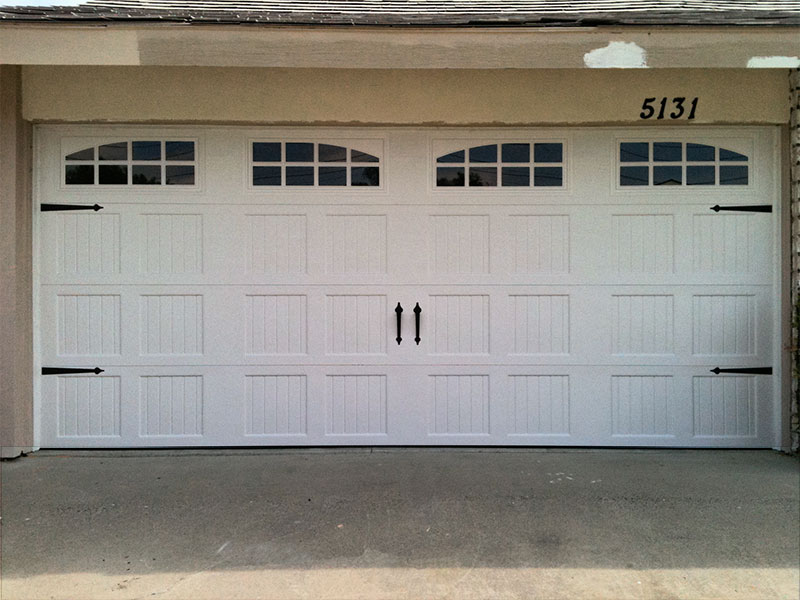 steel carriage house with decorative hardware garage door - Garage Door Decorative Hardware