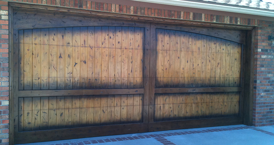 all county custom finish garage door
