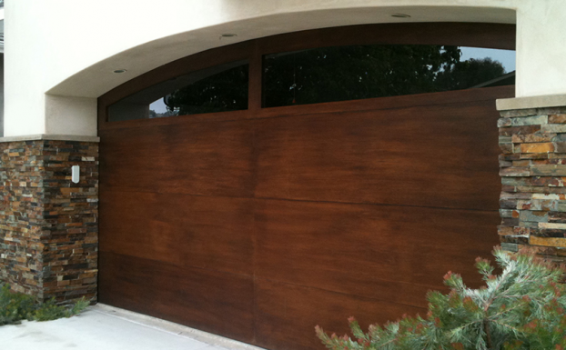 All County doors Mahogany Garage Door
